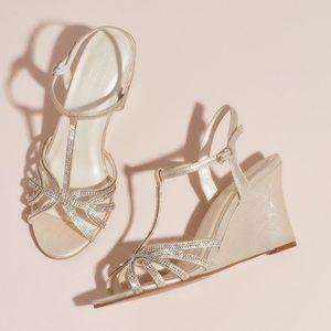 Champagne Wedge Heels